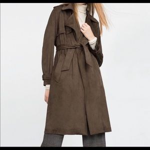 ZARA Suede Trench Coat